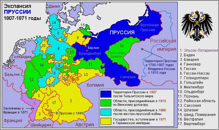Объединение Германии вокруг Пруссии в 1807—1871 гг.