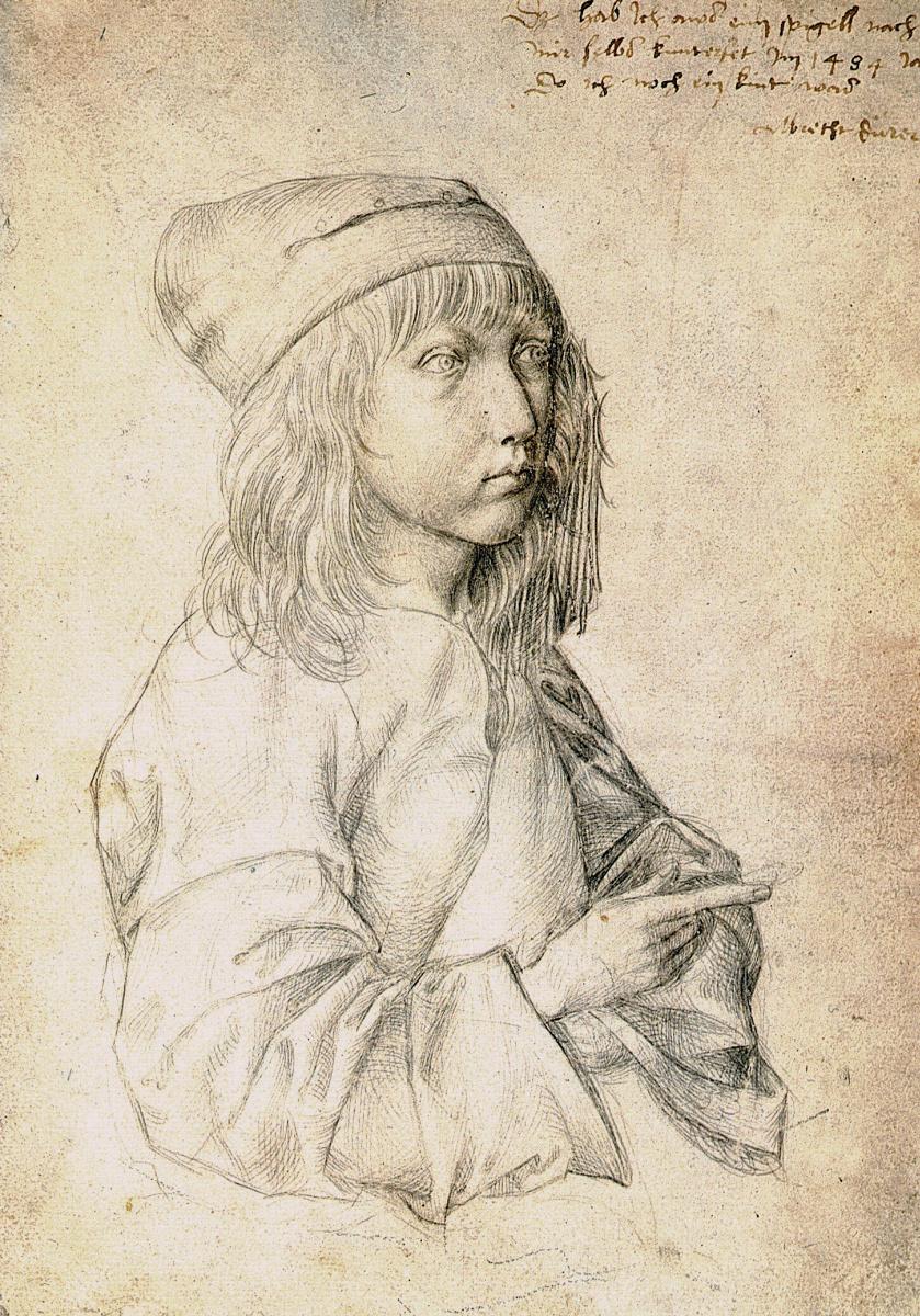 1484 Автопортрет в возрасте 13 лет