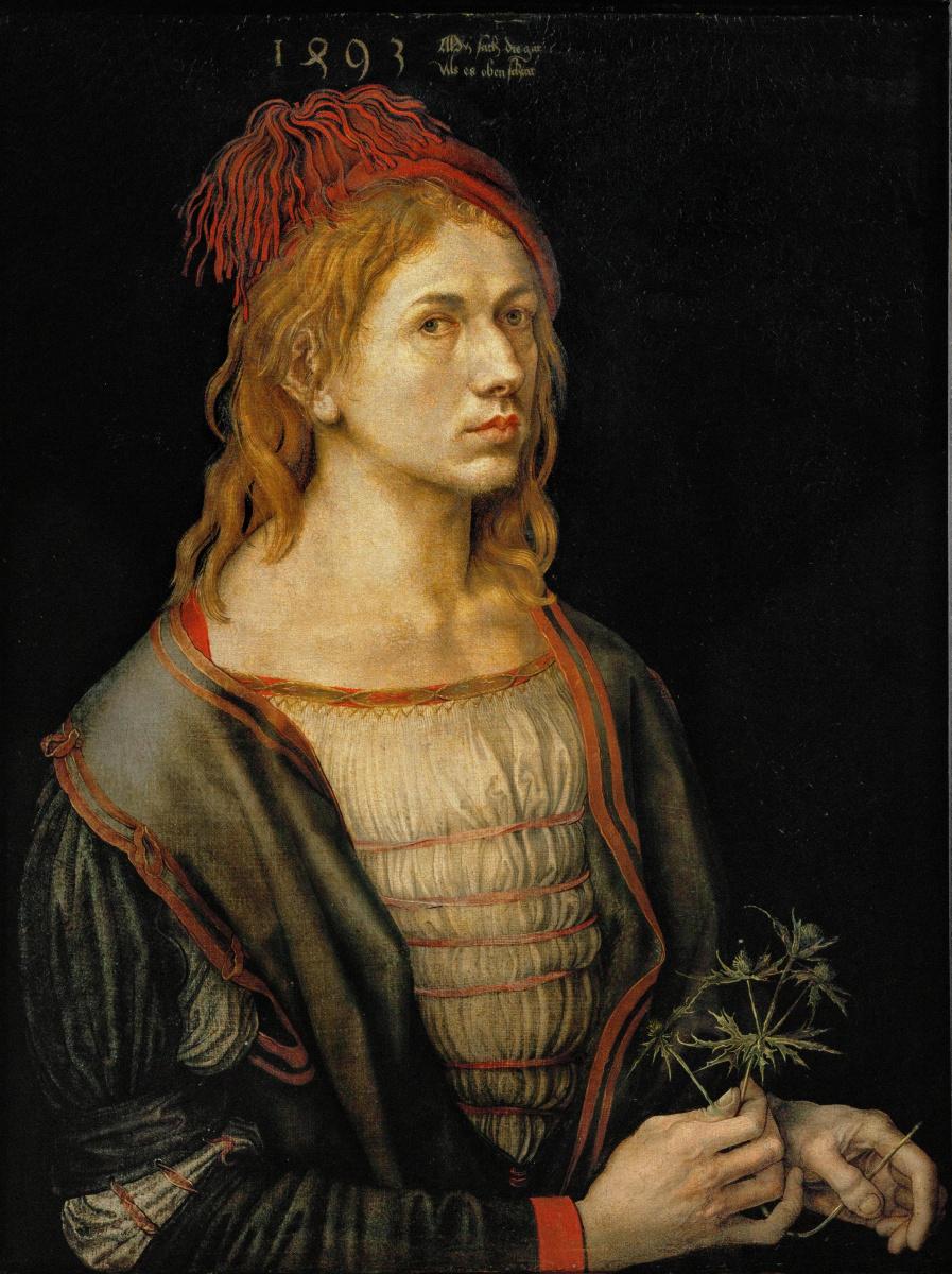 1493 Автопортрет с чертополохом